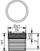 Wavin 600 mm PP-brøndbund, lukket, sort