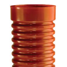 Wavin 425 x 3000 mm PVC-opføringsrør med muffe