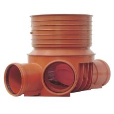 Uponor 200 x 315 mm TP3-brønd, glat/letvægt, venstre tilløb