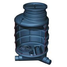 Kessel 1000 x 2100 mm brønd til indbygning af højvandssikrin