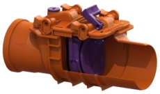 Kessel 160 mm kontraklap til drænvand, 1-klap, model 72