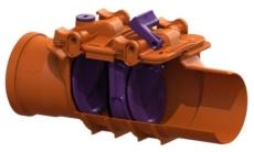Kessel 200 mm kontraklap til gråt spildevand, 2-klap, model