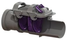 Kessel 50 mm højvandslukke til fritliggende rør, gråt spilde