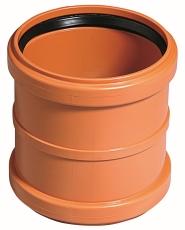 Ostendorf 110 mm PVC-kloakdobbeltmuffe