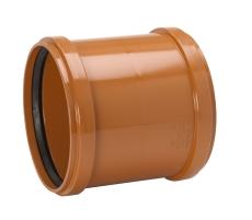 Uponor 250 mm PVC-kloakdobbeltmuffe