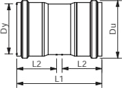 Wavin 500 mm PVC-kloakdobbeltmuffe