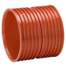 Uponor Double/Rib2/IQ 315 mm PP-dobbeltmuffe, uden gummiring