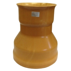HL 200/200 mm Rib2 krympemuffe m/gummiring t/20 cm betonspid