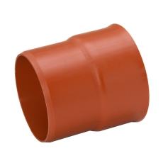 Uponor Double 400 mm PP-overgang t/glat muffe, u/gummiring