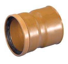 Wavin Rib/Rib2 200 mm PVC-overgang til glat spids, u/gummiri
