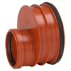 Uponor Double/Rib2 200 x 110 mm PP-redukt. m/gummiring t/gl.