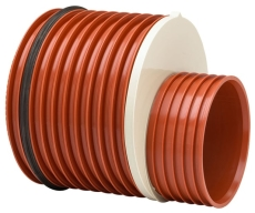 Uponor Double/Rib2 315 x 250 mm PP-reduktion med gummiring