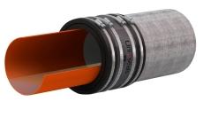 Uni-Seals 70-85 mm kobling 75 mm til støbejern DN65, i jord
