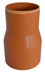 Wavin 200 mm PVC-overgang til støbejernsspids, uden gummirin