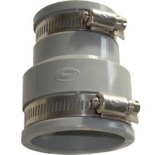 Fernco 38-45/102-112 mm kobling, grå, over jord
