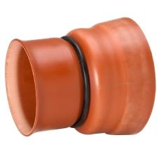 Uponor Double/Rib2 315 mm PP-overgang t/betonspids, u/gummir
