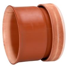 Uponor Double/Rib2 315 mm PP-overgang t/betonmuffe, u/gummir