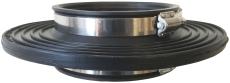 Lauridsen 110 mm indmuringsmanchet med spændebånd, radonspær