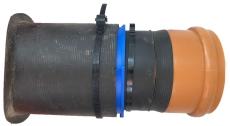 Alnino-connect 160/186 mm påboringssæt til plast, glat spids