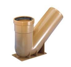 Wavin 110 mm 50 gr. PVC P-vandlås, rød