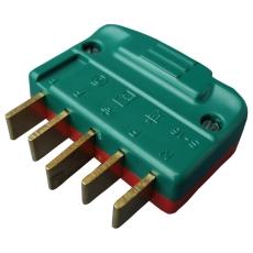 Stikprop 3P+N+J 440V 16A lige brudsikker rød/grøn