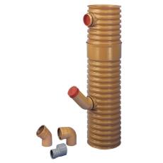 Wavin 315 x 110 mm PVC-tagnedløbsbrønd med vandlås, drejelig
