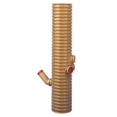 Wavin 315 mm central PVC-tagnedløbsbrønd med vandlås, 35 l