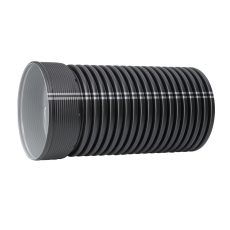 IQ 560/491 x 3000 mm PP SN8 uslidset rør m/muffe u/gummiring