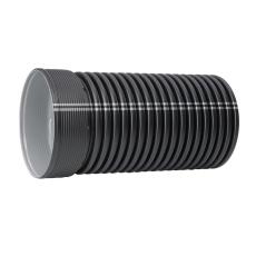 IQ 560/491 x 6000 mm PP SN8 uslidset rør m/muffe u/gummiring