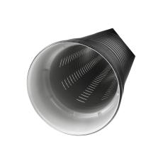 IQ 338/296 x 6000 mm PP SN8 fuldslidset rør med muffe