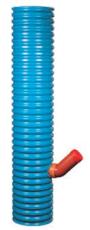 Wavin 315 x 110 mm blå PVC-sandfangsbrønd med vandlås, 35 l