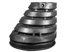 Wavin 1250/600 x 1200 mm brøndkegle med gummiring