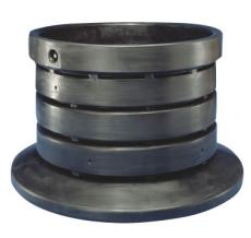 Wavin 1250 x 1120 mm PE-brøndbund, lukket, sort