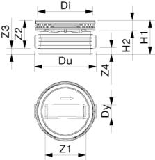 Wavin Tegra 200 x 1000 mm TP1-brønd, glat, lige gennemløb