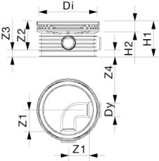 Wavin Tegra 250 x 1000 mm TP1-brønd, letvægt, 90 gr. genneml