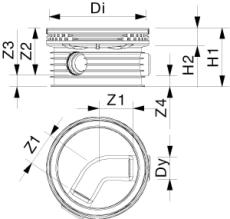 Wavin Tegra 200 x 1000 mm TP1-brønd, letvægt, 60 gr. genneml