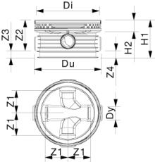 Wavin Tegra 200 x 1000 mm TP2-brønd, letvægt, 2 x 90 gr. til