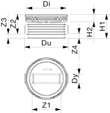Wavin Tegra 400 x 1000 mm TP1-brønd, X-stream, lige gennemlø