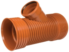 Kaczmarek K2 DN400 x 200 mm PP-gren t/glat spids, u/gummirin