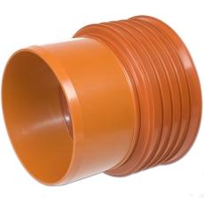 Kaczmarek K2 DN250 x 250 mm PP-overg. t/glat muffe, u/gummir
