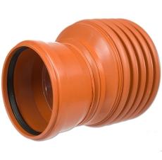 Kaczmarek K2 DN200 x 160 mm PP-red. til glat spids, u/gummir