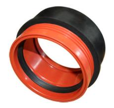 Wavin 110/127 mm In Situ PVC til plast, 2-delt, oliebestandi