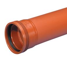 Wavin 110 x 3000 mm PP-kloakrør med muffe, klasse S SN8, EN