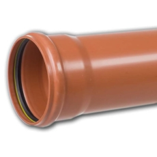 Kaczmarek 250 x 6000 mm PP-kloakrør m/mf., klasse S SN8, EN