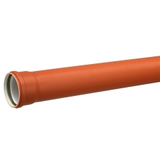 Uponor 250 x 3000 mm PP-kloakrør med muffe, klasse S SN8