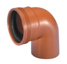 Wavin 200 mm 88 gr. PP-kloakbøjning