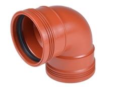 Wavin 110 mm 88 gr. PP-kloakbøjning med 2 muffer