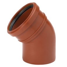 Uponor 110 mm 45 gr. PP-kloakbøjning