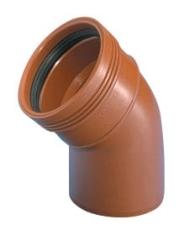 Wavin 200 mm 45 gr. PP-kloakbøjning