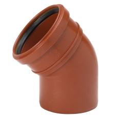 Uponor 110 mm 30 gr. PP-kloakbøjning
